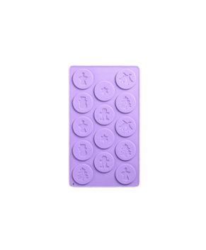 Силиконовая форма Новогодние кружочки, 14 ячеек