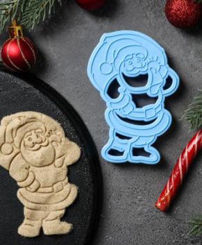 Вырубка для пряников и печенья Санта Клаус