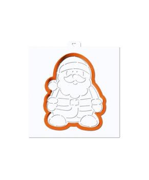Вырубка+Трафарет Дед Мороз