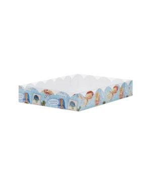 Коробка для печенья и пряников, белая 15х15х3,5см (кому-то очень хорошему)