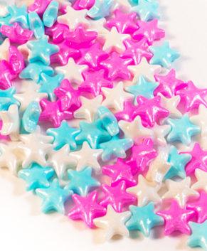 Посыпка кондитерская Звездочки 3D (розвые, голубые, белые), 40гр