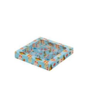 Коробка на 9 конфет с прозрачной крышкой, С новым годом