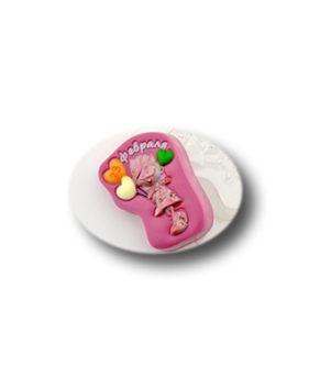 Пластиковая форма для шоколада, Девочка 23 февраля