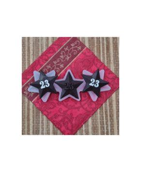Молд силиконовый Звезда 23 Февраля, 3 шт
