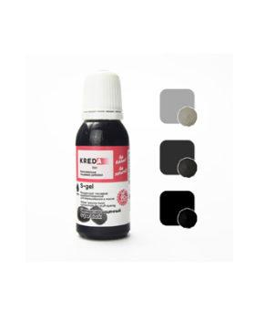 Краситель гелевый пищевой Чёрный насыщенный №50 20мл, KREDA S-gel