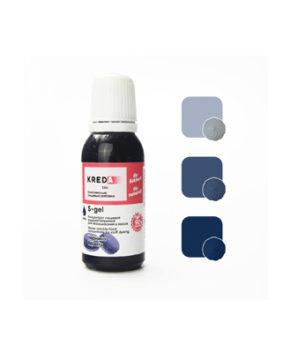 Краситель гелевый пищевой Черника №59 20мл, KREDA S-gel