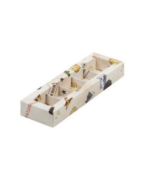 Коробка на 5 конфет с пластиковой крышкой, Настоящему мужчине
