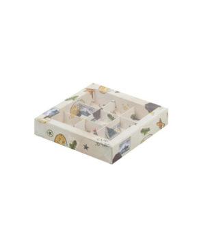 Коробка на 9 конфет с пластиковой крышкой, Настоящему мужчине