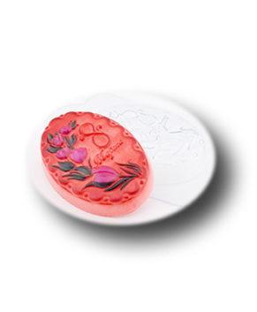 Пластиковая форма для шоколада Восьмерка с цветами овал