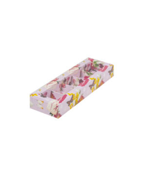 Коробка на 5 конфет с пластиковой крышкой, С праздником!