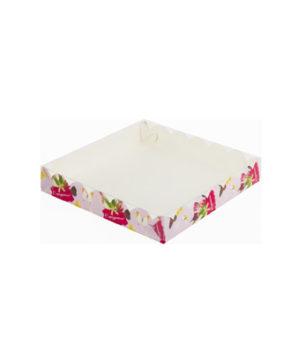 Коробка для печенья и пряников, С Праздником 15х15х3,5см