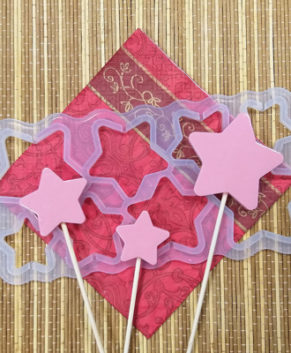 Молд силиконовый Звезды разные-Топпер без дна, 8ячеек