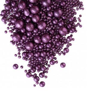 Драже рисовые в глазури Блеск Фиолетовый, 50гр