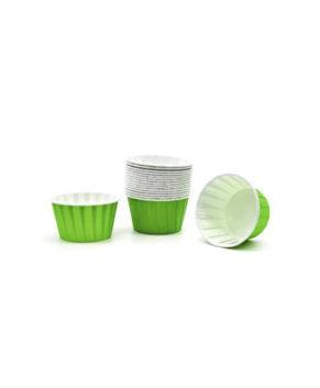 Капсулы бумажные усиленные с ламиницией зелёные 50х40мм, 20шт