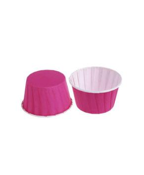 Капсулы бумажные усиленные с ламиницией розовые 50х40мм, 20шт
