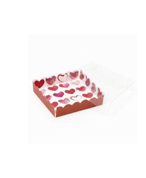 Коробка для пряников Сердечки, 12х12х3см