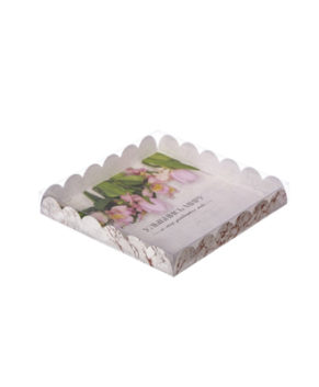 Коробка для пряников Улыбнись миру, 21х21х3см