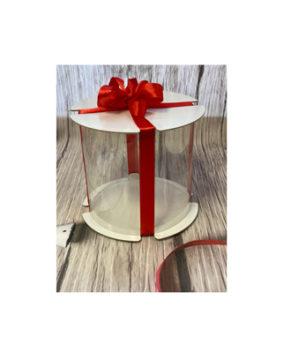 Коробка для торта прозрачная ТУБУС 16х16см