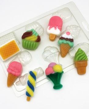 Пластиковая форма для шоколада Мороженки МИНИ