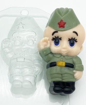 Пластиковая форма для шоколада Малыш Солдат