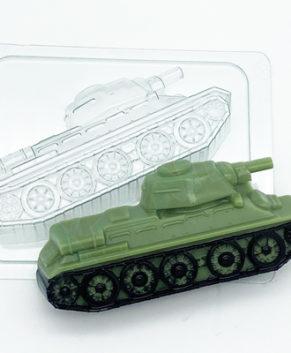 Пластиковая форма для шоколада Танк Т-34 бок