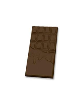 Пластиковая форма для шоколада Плитка Горячий шоколад 7х15 см