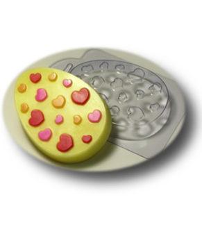 Пластиковая форма для шоколада Яйцо плоское №6