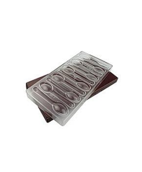 Пластиковая форма для шоколадных конфет Ложки, 10 ячеек