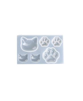 Молд силиконовый Котики Лапки, 6 ячеек