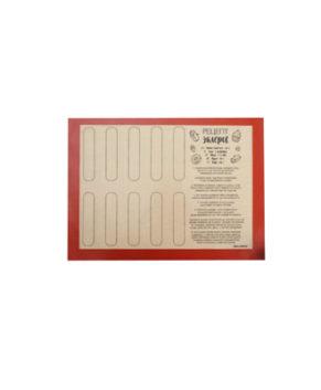 Силиконовый армированный коврик для эклеров  40×30см