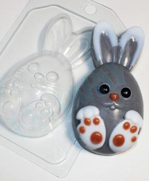 Пластиковая форма для шоколада Кролик мультяшный