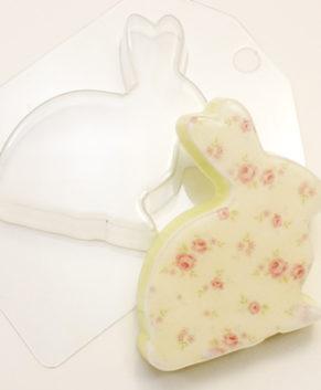 Пластиковая форма для шоколада Кролик плоский