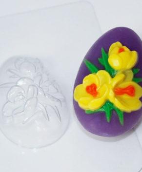 Пластиковая форма для шоколада Яйцо Крокусы
