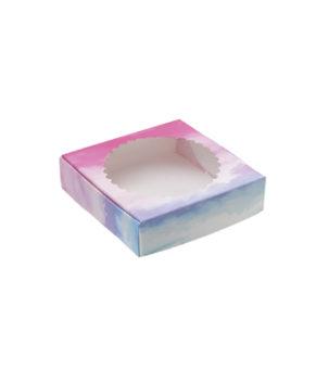 Коробка для кондитерских изделий Цветная 11,5х11,5х3 см