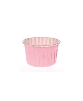Капсулы бумажные усиленные с ламиницией нежно-розовые 50х40мм, 20шт