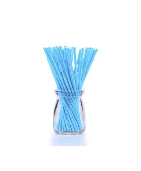 Палочки для леденцов и кейкпопсов Голубые 15см, 25шт