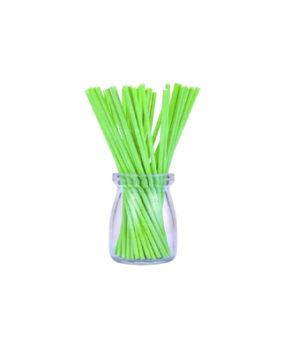 Палочки для леденцов и кейкпопсов Зеленые 15см, 25шт
