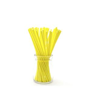 Палочки для леденцов и кейкпопсов Желтые 15см, 25шт
