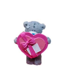 Молд силиконовый Мишка с подарочным сердцем