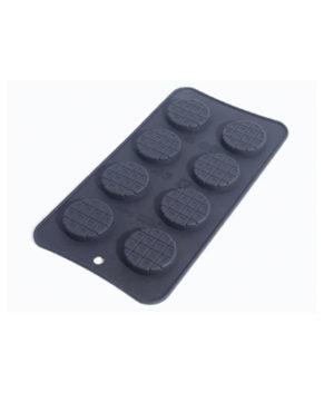 Форма силиконовая Круглые шоколадки, 8 ячеек
