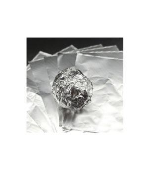 Фольга оберточная для конфет Серебрянная 10×10см, 100шт
