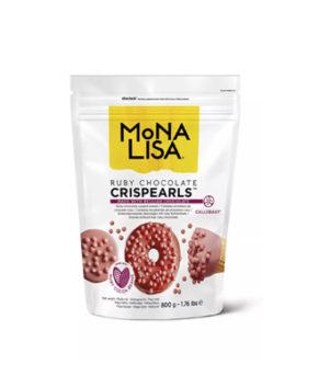 Шоколадные хрустящие шарики Mona Liza Crispearls RUBY, 70гр