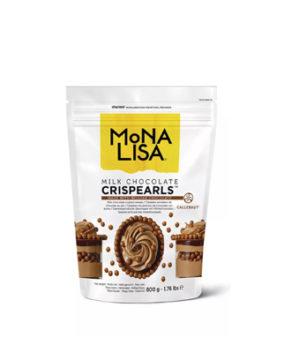 Шоколадные хрустящие шарики Mona Liza Crispearls Молочные, 70гр
