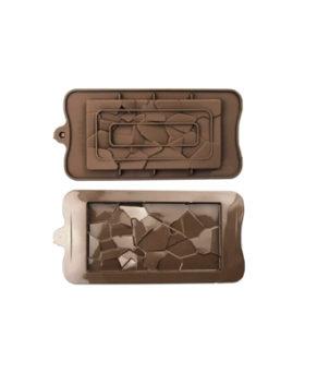 Силиконовая форма Шоколадная плитка Осколки