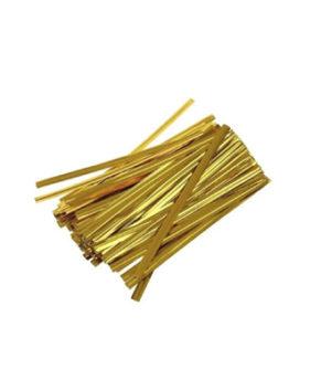Твист-лента для пакетиков Золото 8см, 800шт