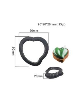 Форма перфорированная для выпечки из термопластика (сердце) 9см
