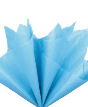 Бумага упаковочная Тишью, Голубая 10 листов