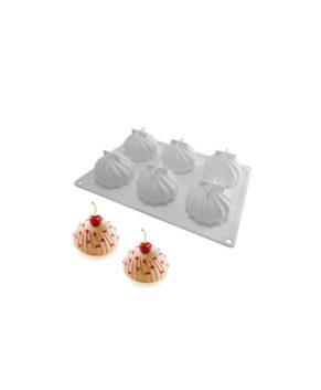Форма для муссовых десертов Взбитые сливки, 6 ячеек
