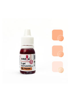 Краситель гелевый пищевой Персик №02 10мл, KREDA S-gel