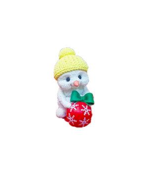 Молд силиконовый 3D Снеговик с подарком